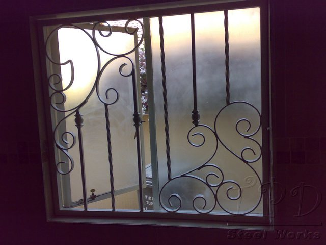 Door security indoor security bars for Window bars design