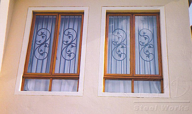 Tpd steel works burglar bar images for Window bars design
