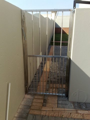 Steel security gates
